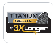 Titanium force coating up to 2x longer