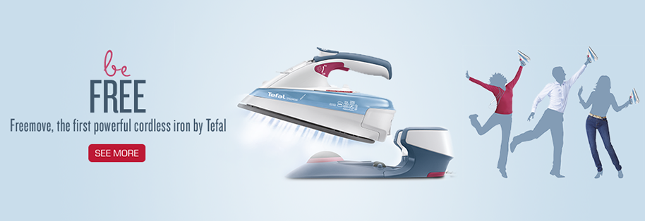Be Free ! Freemove, the first powerful cordless iron by Tefal